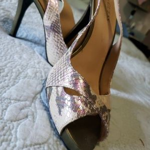 Guess by Marciano Shoes - Guess by Marciano leather iridescent heels size8.5